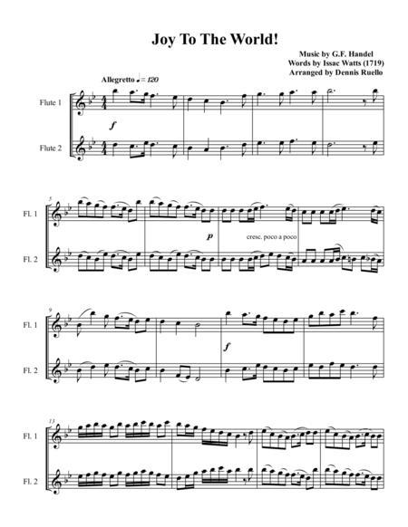 6 Christmas Carols For Flute Duet - Intermediate  level