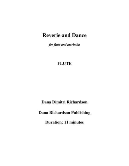 Reverie and Dance for flute and marimba-flute part
