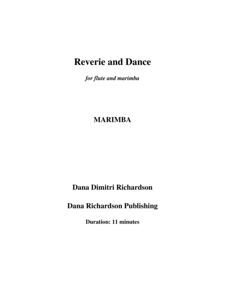 Reverie and Dance for flute and marimba- marimba part