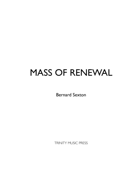 Mass of Renewal - Accompaniment Edition