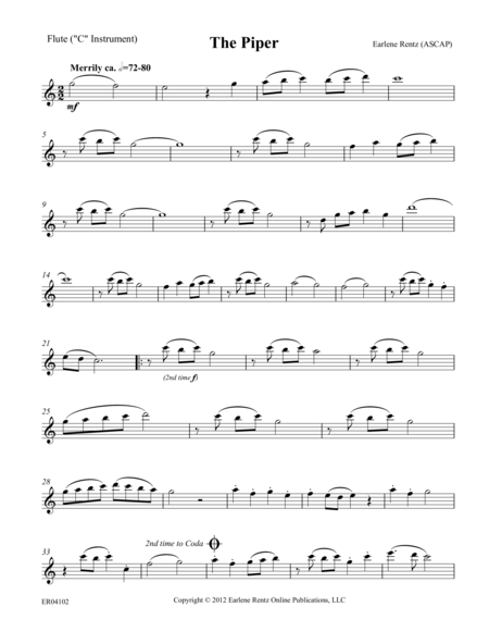 The Piper - Flute Part