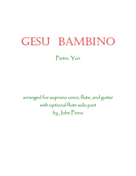 Gesu Bambino for voice, flute, and classical guitar