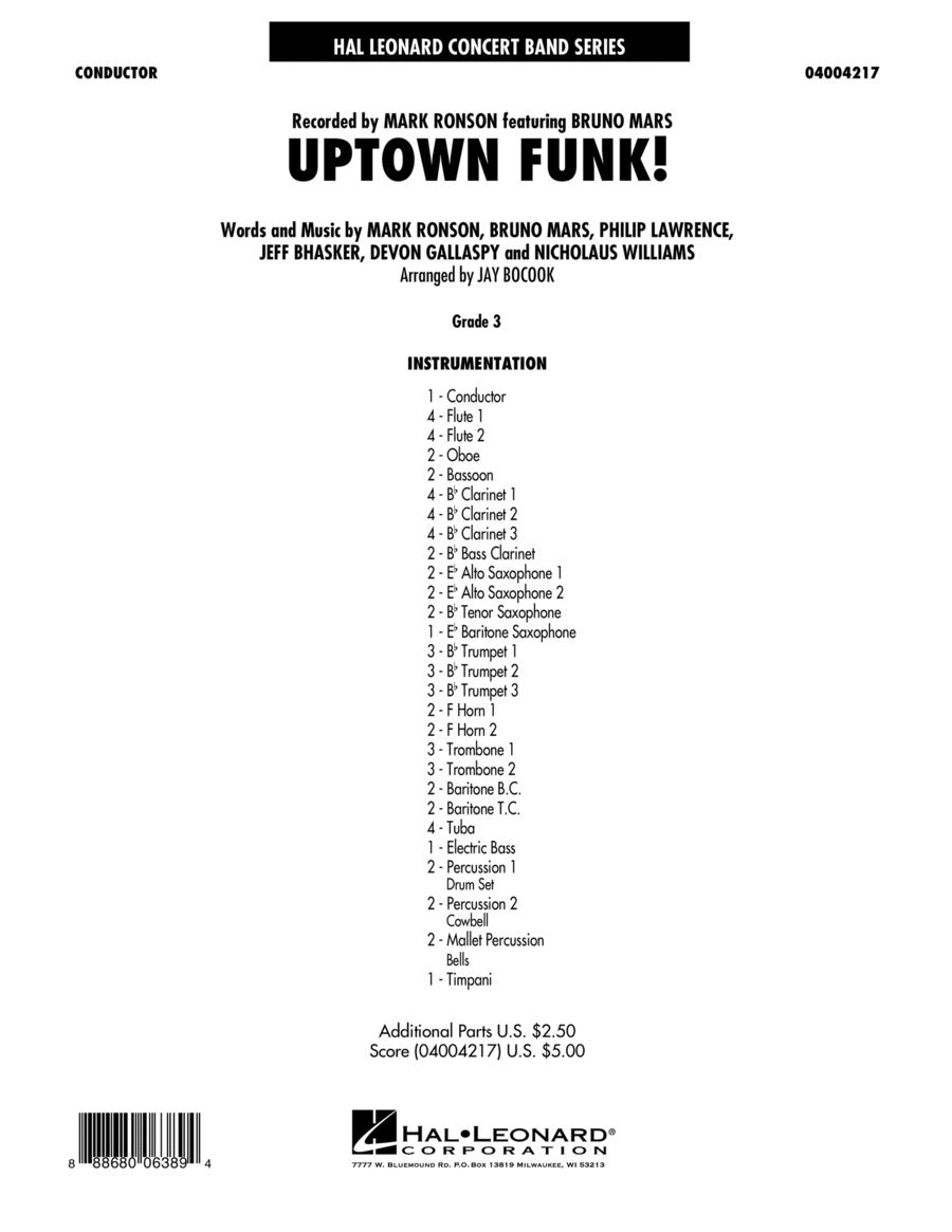 Uptown Funk! - Conductor Score (Full Score)