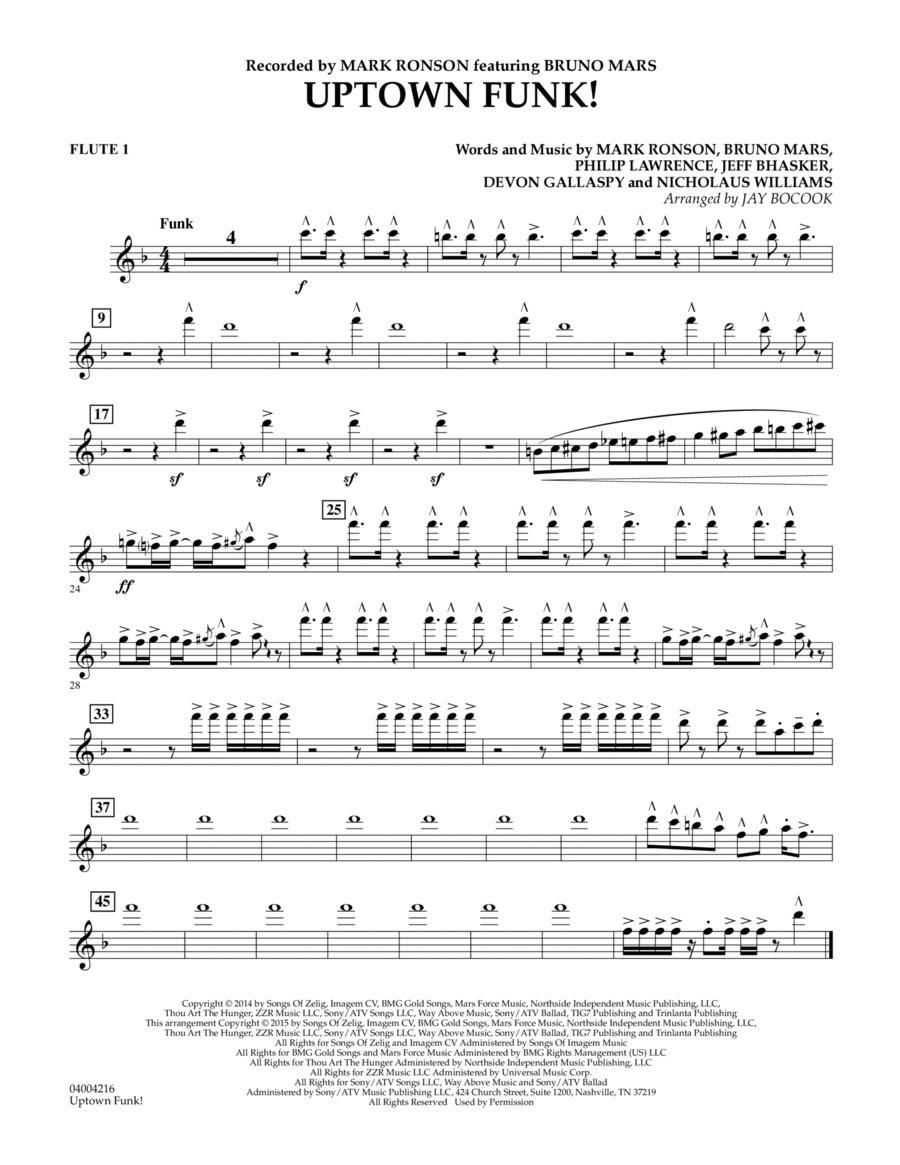 Uptown Funk! - Flute 1