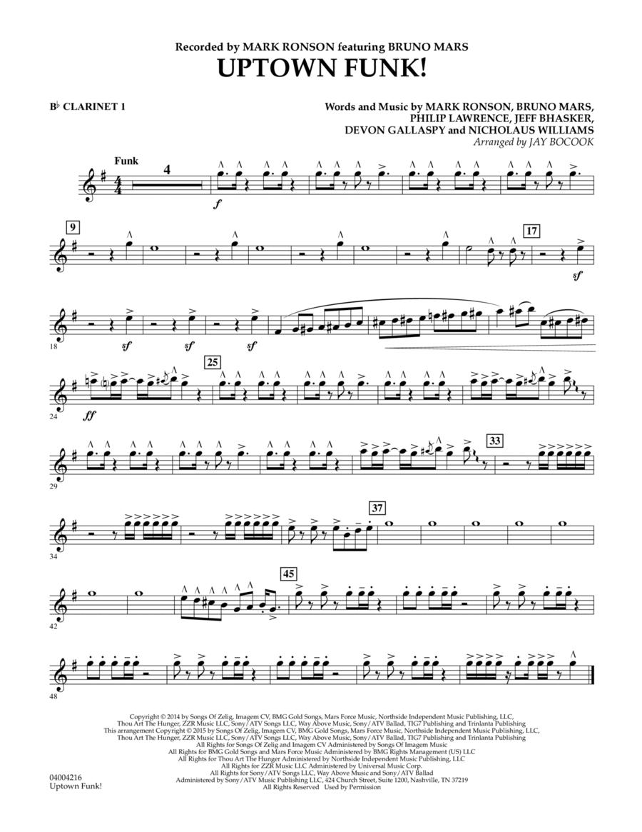 Uptown Funk! - Bb Clarinet 1