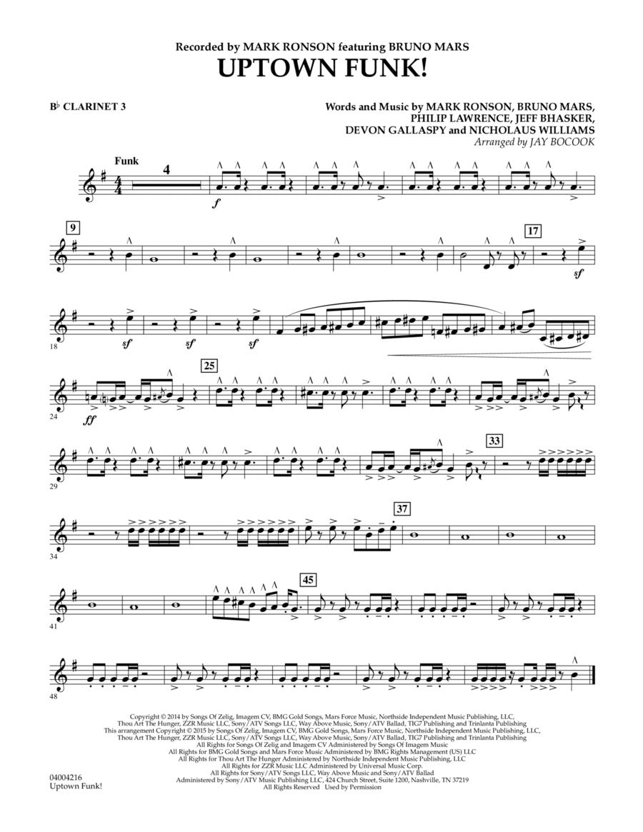 Uptown Funk! - Bb Clarinet 3