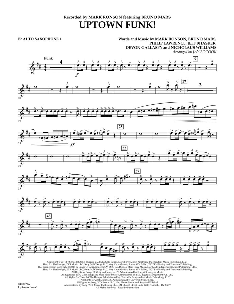 Uptown Funk! - Eb Alto Saxophone 1