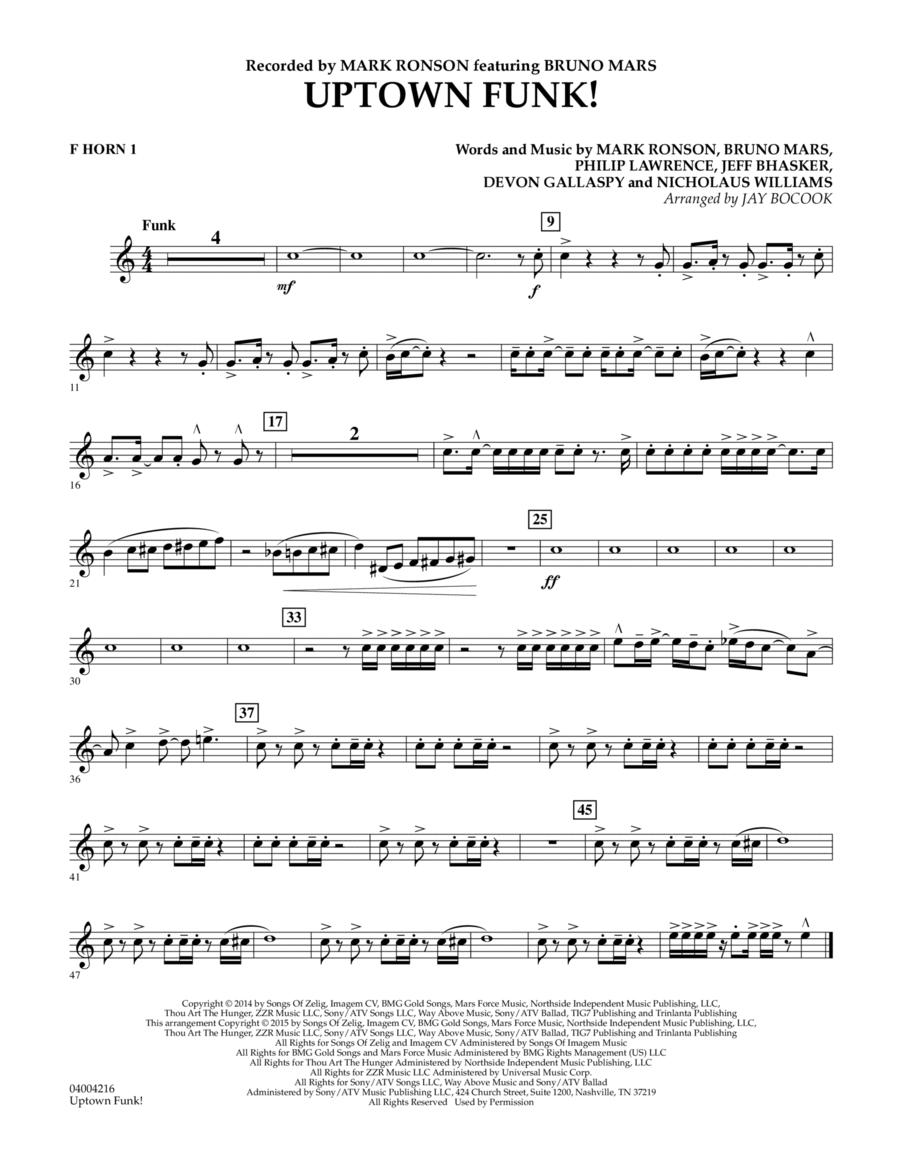 Uptown Funk! - F Horn 1