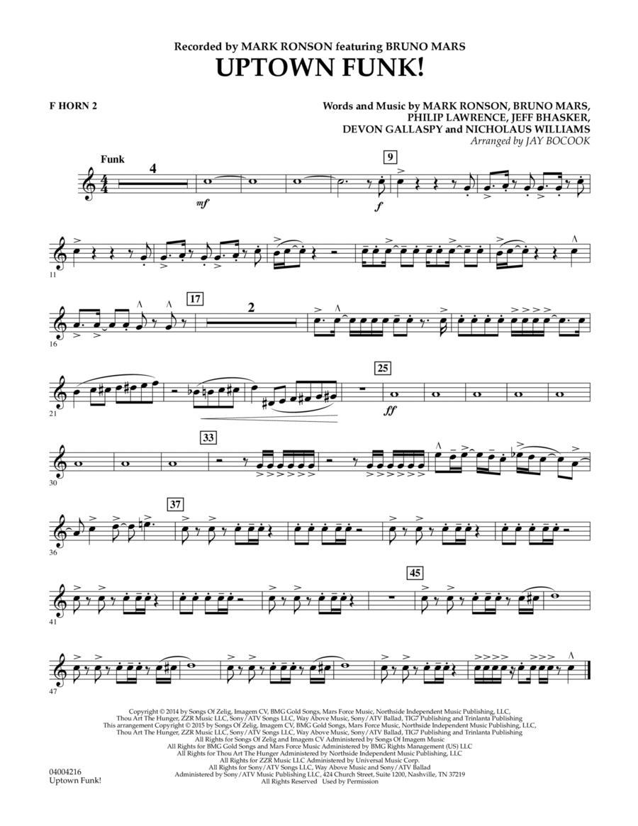 Uptown Funk! - F Horn 2