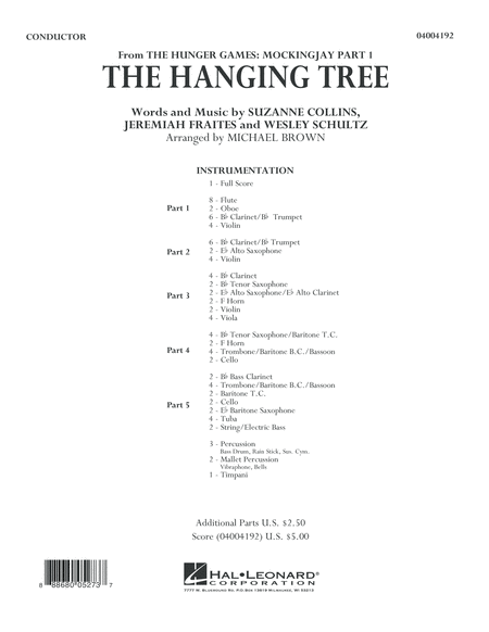 The Hanging Tree (from The Hunger Games: Mockingjay Part 1) - Conductor Score (Full Score)