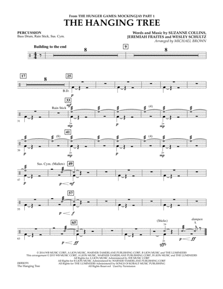The Hanging Tree (from The Hunger Games: Mockingjay Part 1) - Percussion