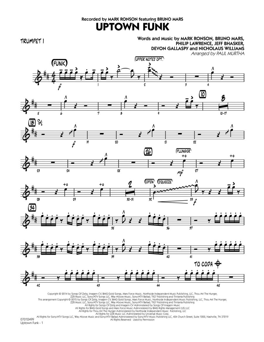 Uptown Funk! - Trumpet 1
