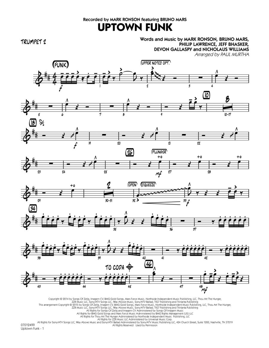 Uptown Funk! - Trumpet 2
