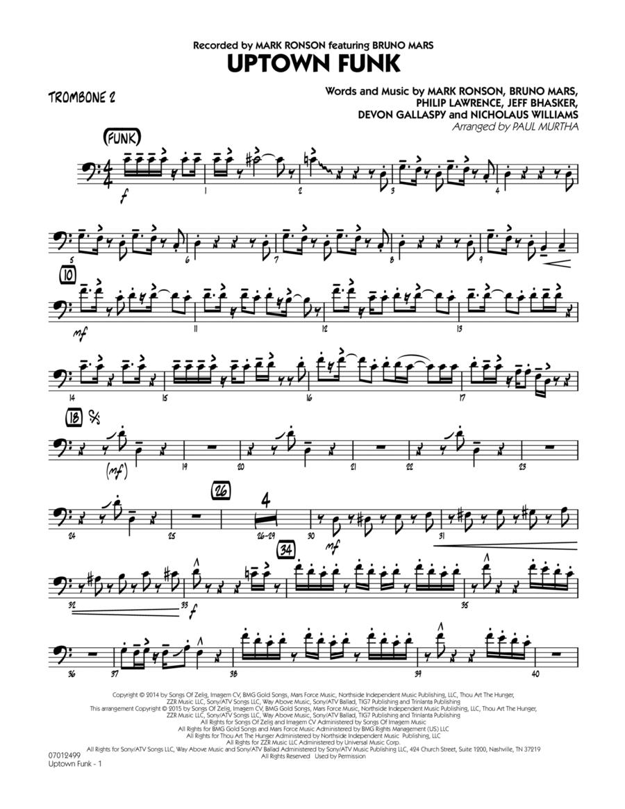 Uptown Funk! - Trombone 2