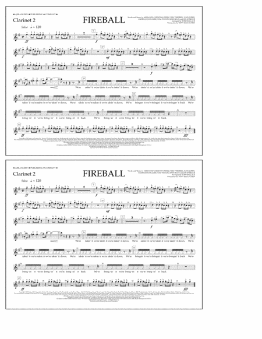 Fireball - Clarinet 2