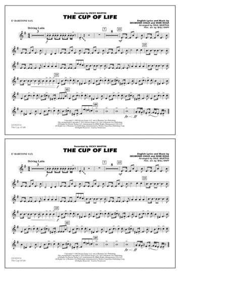 The Cup of Life - Eb Baritone Sax