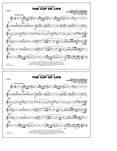 The Cup of Life - F Horn