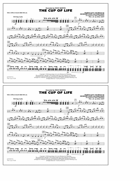 The Cup of Life - Multiple Bass Drums