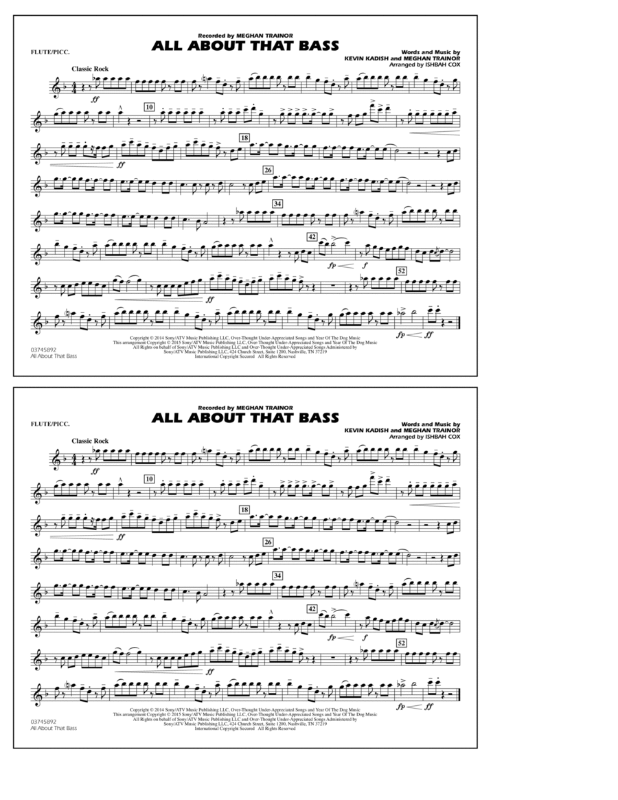 All About That Bass - Flute/Piccolo