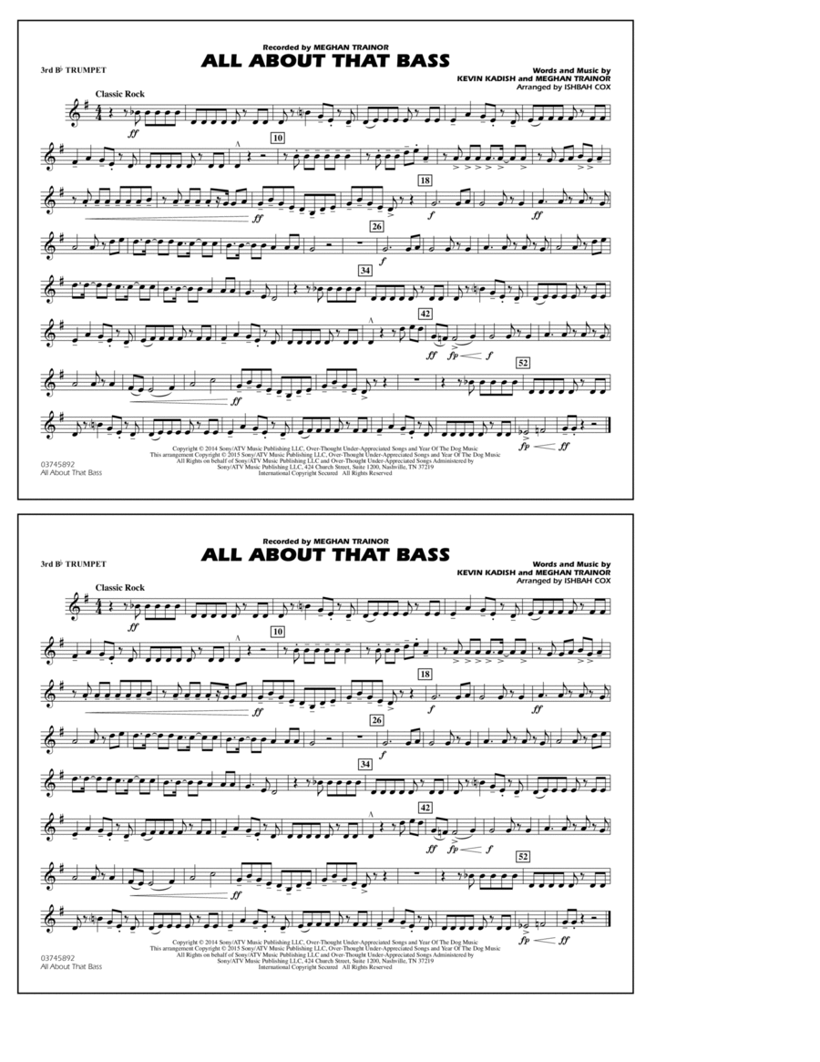 All About That Bass - 3rd Bb Trumpet