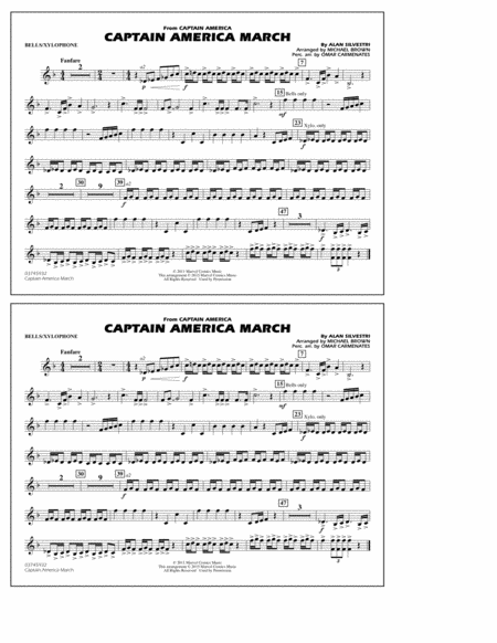 Captain America March - Bells/Xylophone