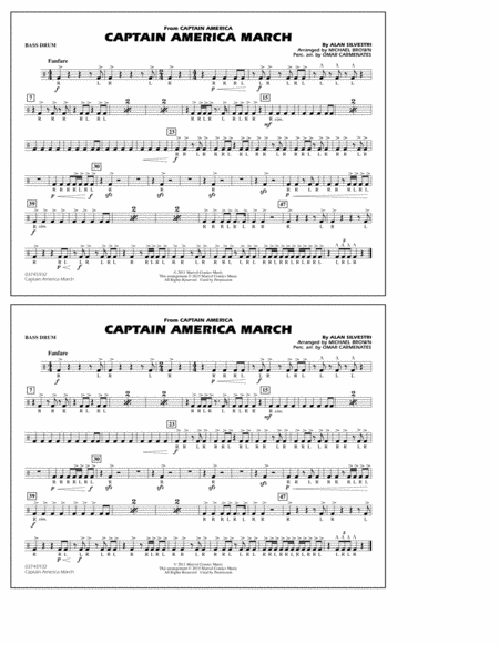 Captain America March - Bass Drum
