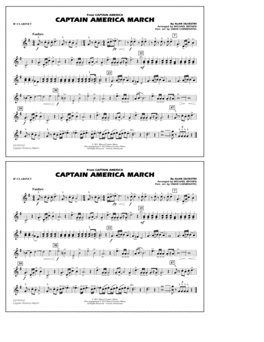 Captain America March - Bb Clarinet