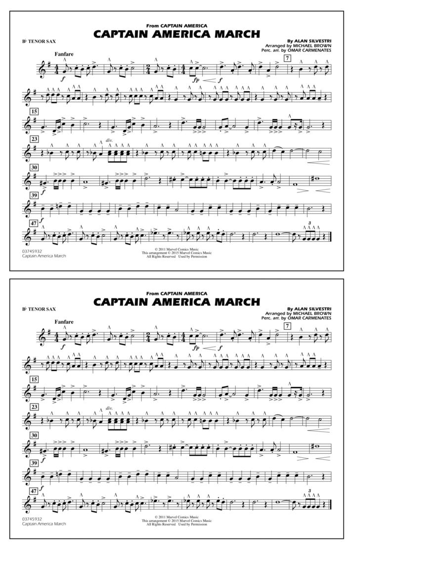 Captain America March - Bb Tenor Sax