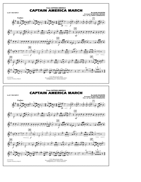 Captain America March - 1st Bb Trumpet