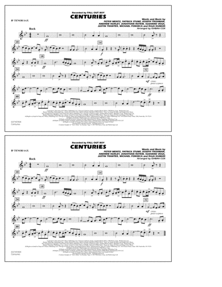 Centuries - Bb Tenor Sax