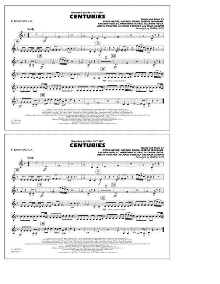Centuries - Eb Baritone Sax