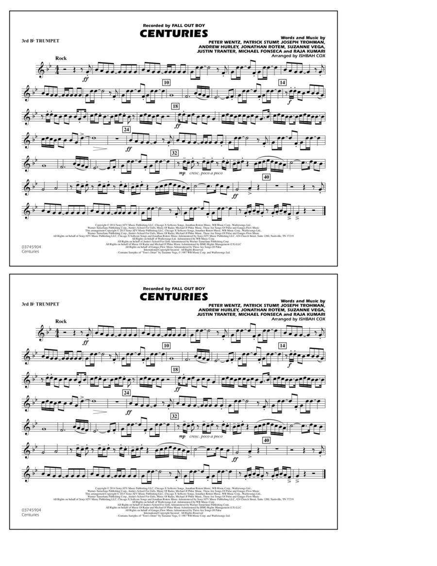 Centuries - 3rd Bb Trumpet