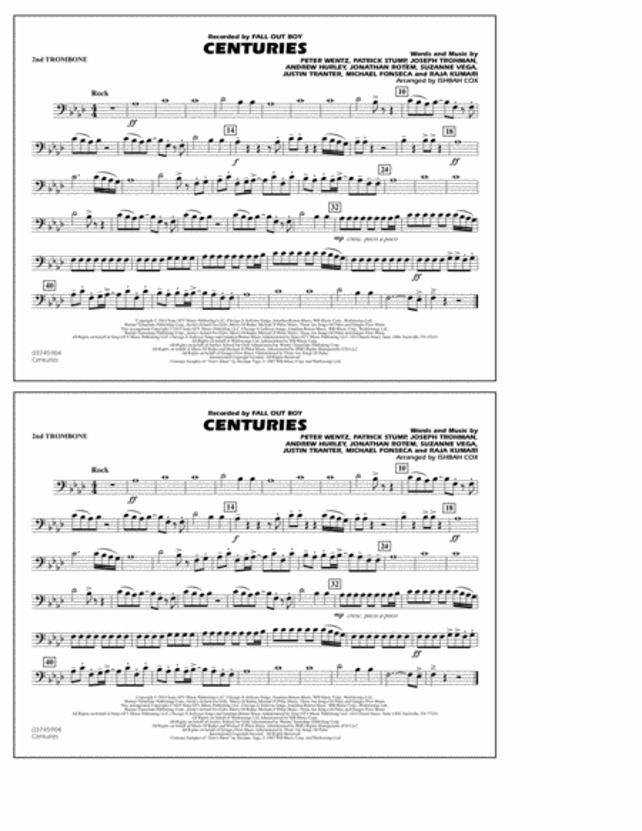 Centuries - 2nd Trombone