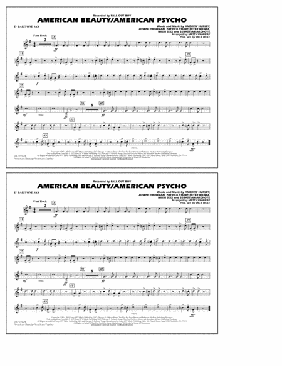 American Beauty/American Psycho - Eb Baritone Sax
