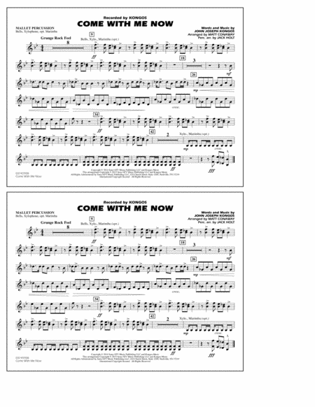 Come with Me Now - Mallet Percussion