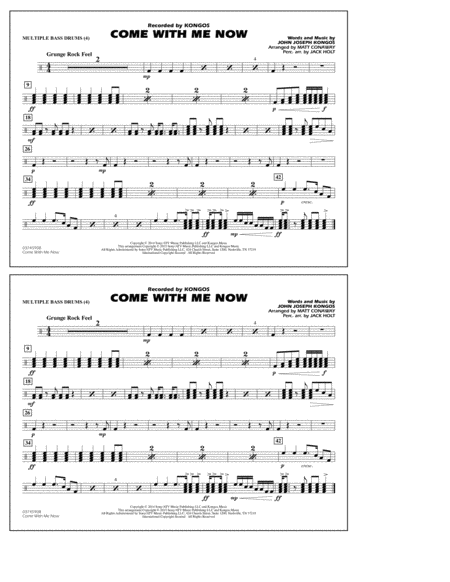 Come with Me Now - Multiple Bass Drums