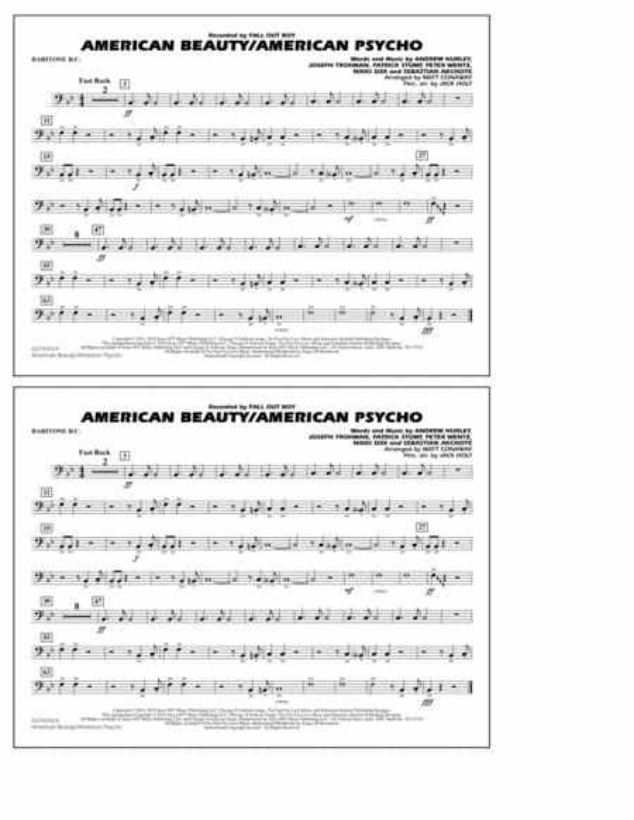 American Beauty/American Psycho - Baritone B.C.