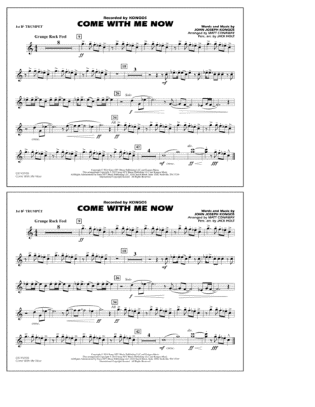 Come with Me Now - 1st Bb Trumpet