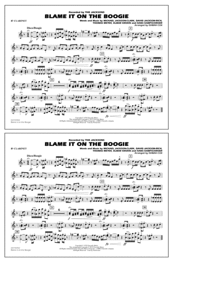 Blame It on the Boogie - Bb Clarinet