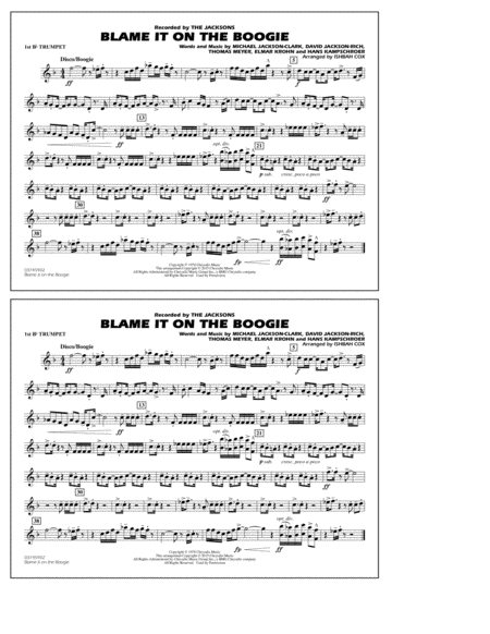 Blame It on the Boogie - 1st Bb Trumpet