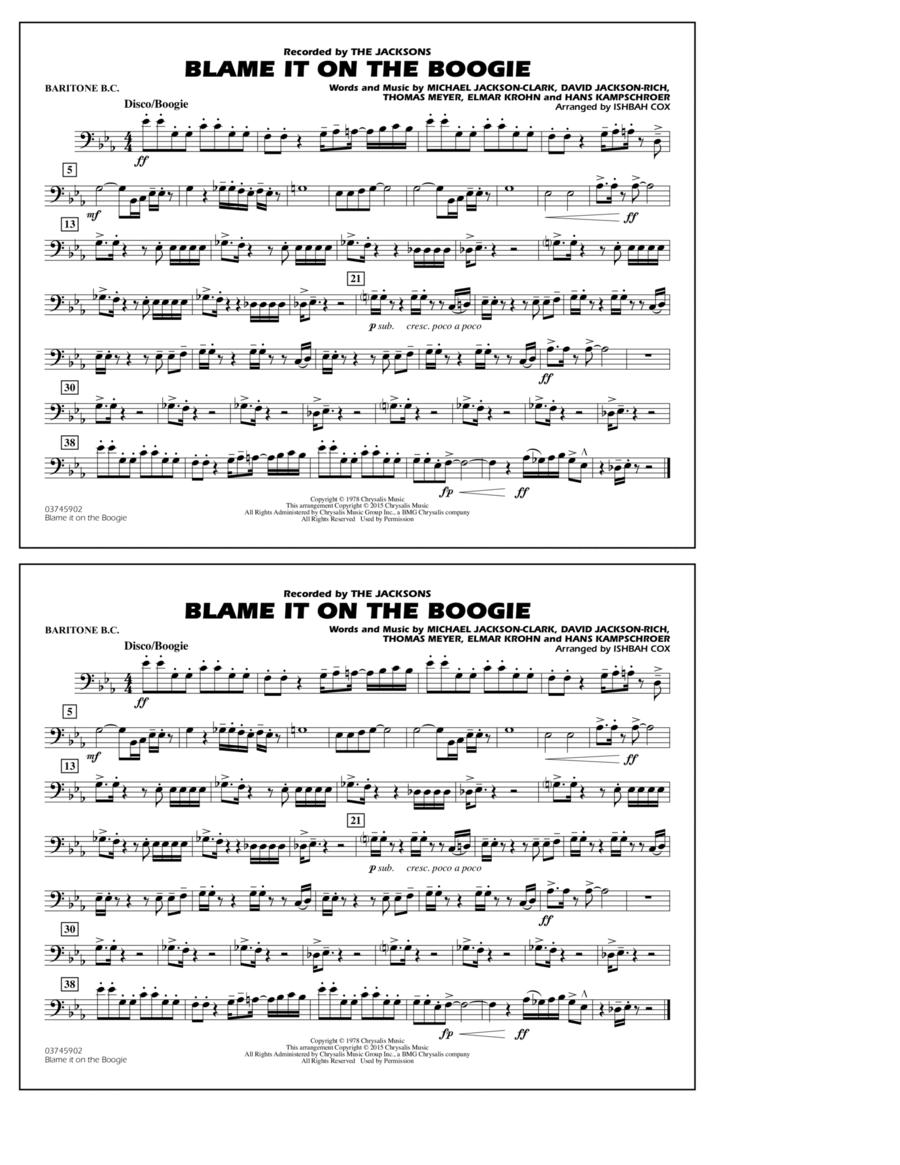 Blame It on the Boogie - Baritone B.C.