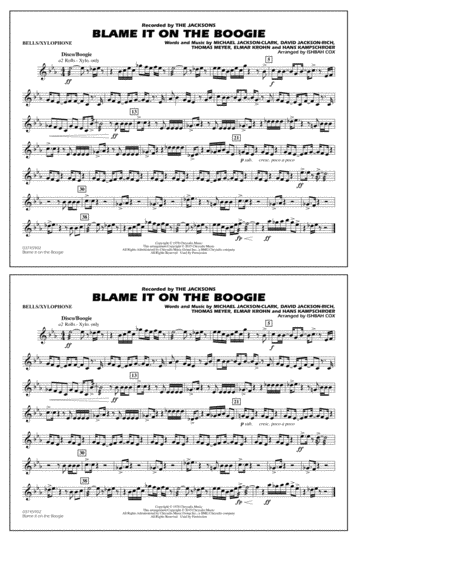 Blame It on the Boogie - Bells/Xylophone