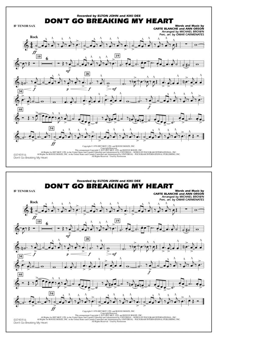 Don't Go Breaking My Heart - Bb Tenor Sax
