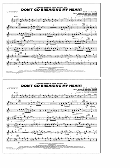 Don't Go Breaking My Heart - 1st Bb Trumpet