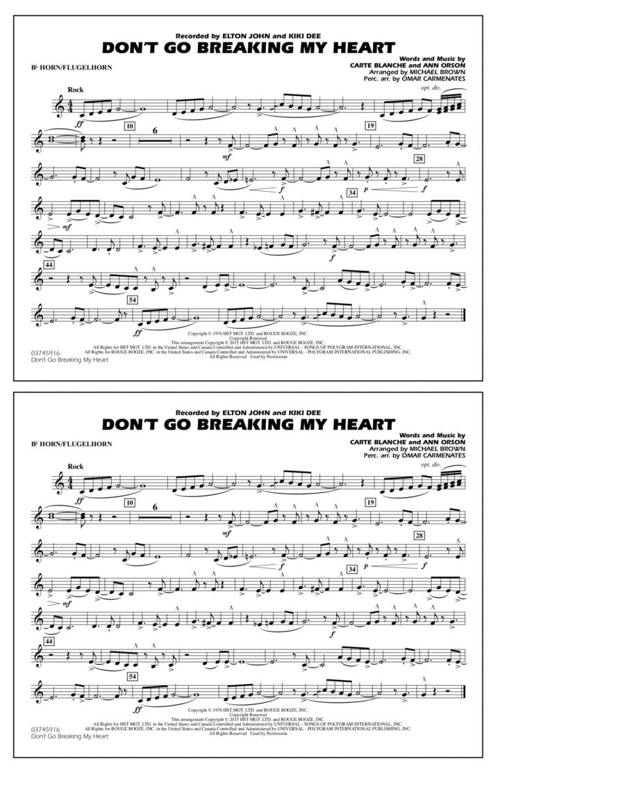 Don't Go Breaking My Heart - Bb Horn/Flugelhorn