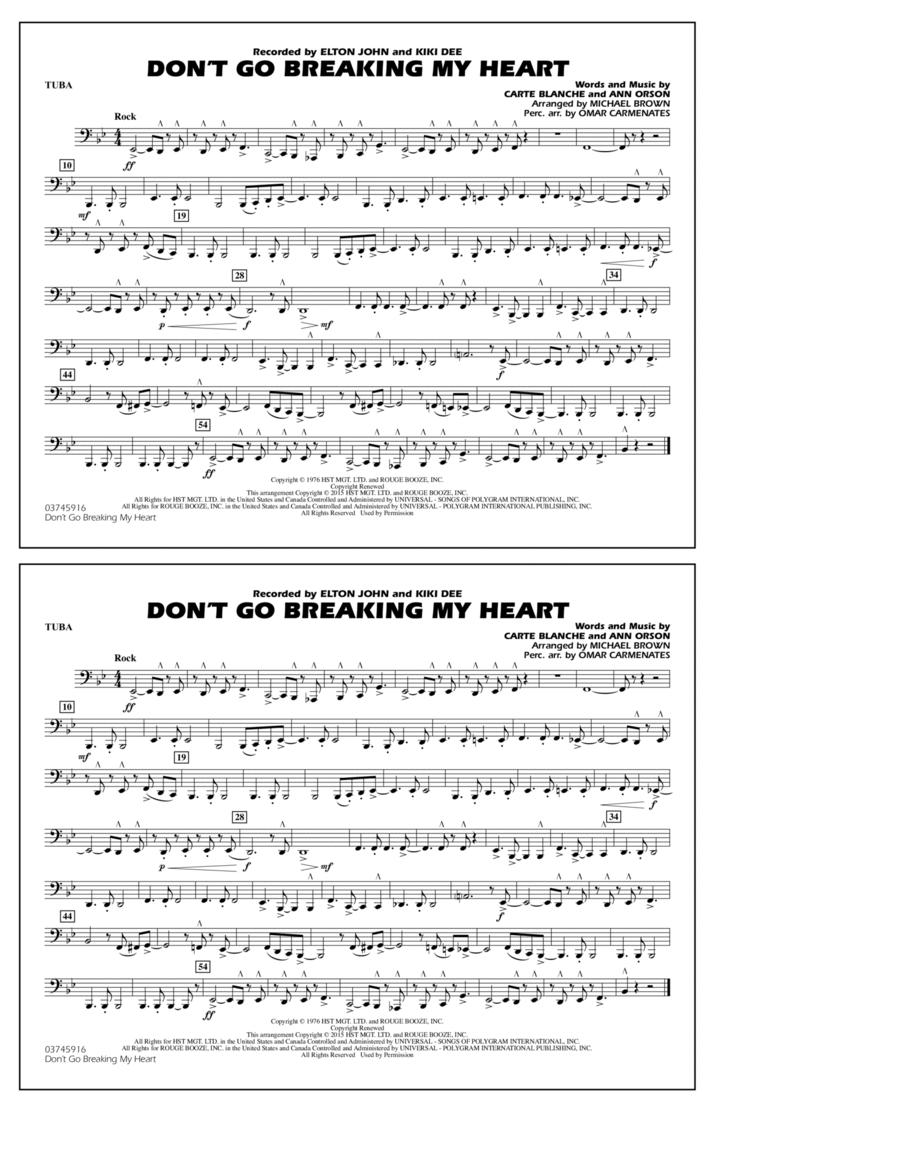 Don't Go Breaking My Heart - Tuba