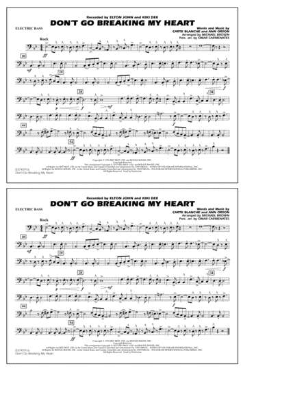 Don't Go Breaking My Heart - Electric Bass