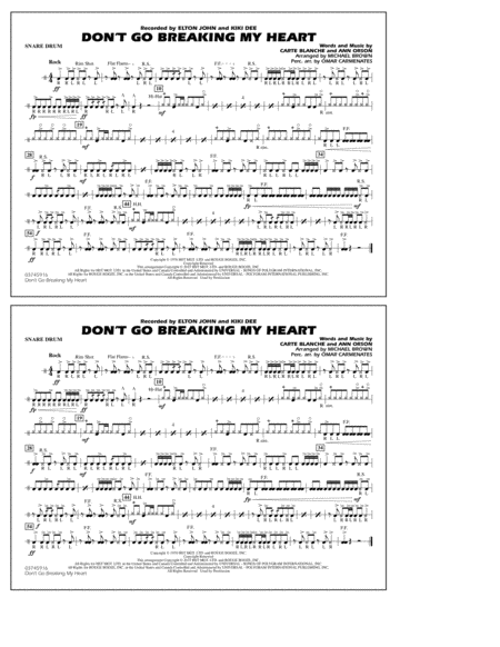 Don't Go Breaking My Heart - Snare Drum