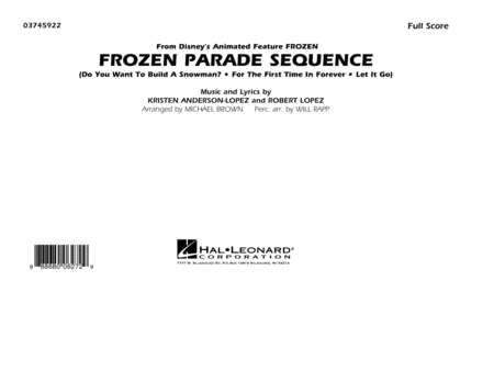 Frozen Parade Sequence - Conductor Score (Full Score)