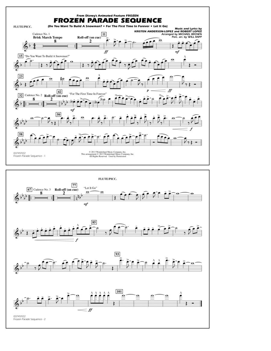 Frozen Parade Sequence - Flute/Piccolo